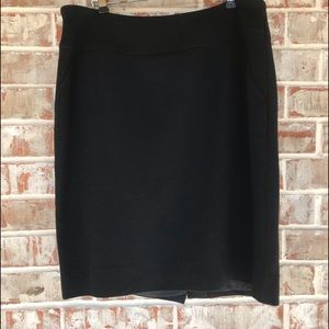 Louis Feraud Vintage Wool Pencil Skirt Sz 12